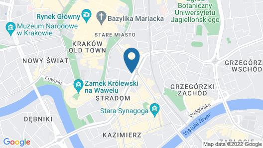 Fragola Between Old Town and Jewish Quarter Map