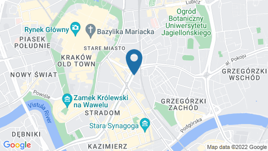 Wawel Apartments - Old Town Map