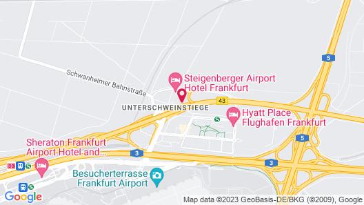 Steigenberger Airport Hotel Map