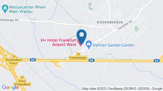 H+ Hotel Frankfurt Airport West Map