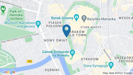 Radisson Blu Hotel, Krakow Map