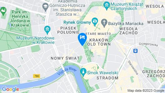 Radisson Blu Hotel, Krakow Map
