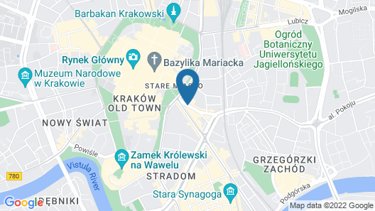 Holiday Inn Krakow City Centre Map