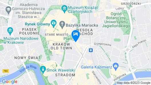 Holiday Inn Krakow City Centre Map