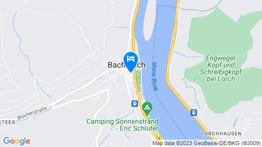 Rhein-Hotel Bacharach Map