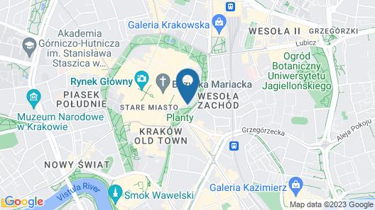 Hotel Gródek Map