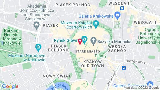 OK MAIN SQUARE Apartments Map