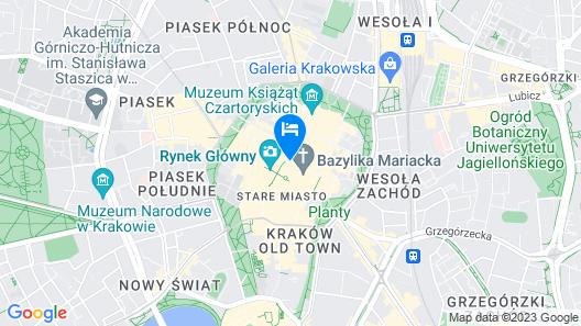 Hotel Betmanowska Main Square Residence Map