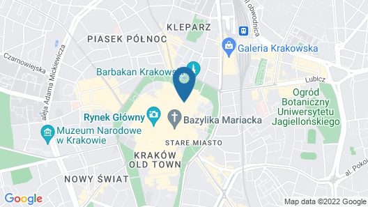 Hotel Unicus Krakow Old Town Map
