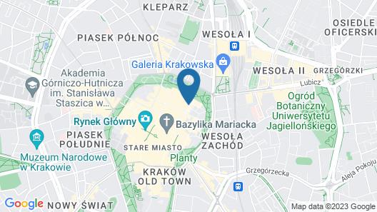 Krakow City Apartments Map