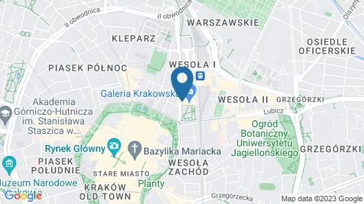 ibis budget Krakow Stare Miasto Map