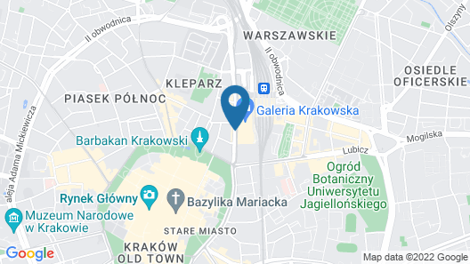 Mercure Krakow Stare Miasto (Old Town) Map