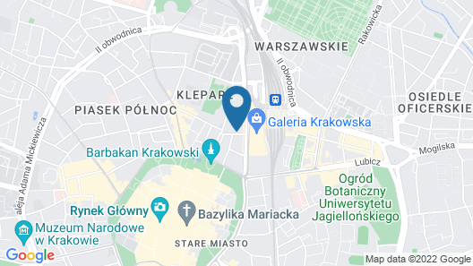 Cracow Central Aparthotel Map