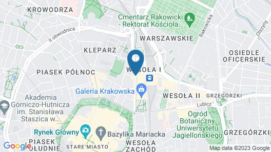PURO Krakow Stare Miasto Map