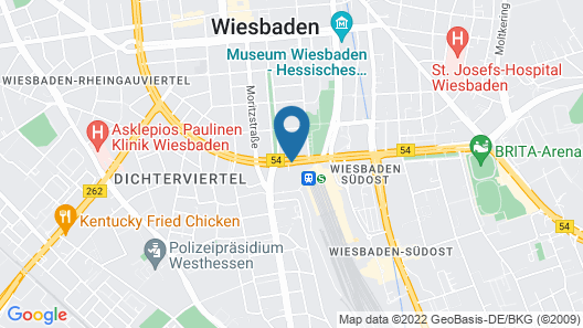 Motel One Wiesbaden Map