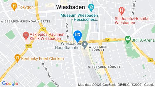 Motel One Wiesbaden Map