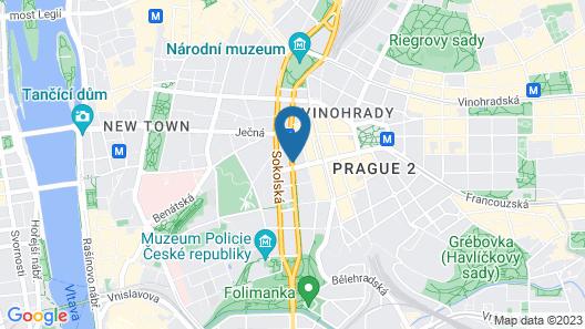 Pension Brezina Prague Map