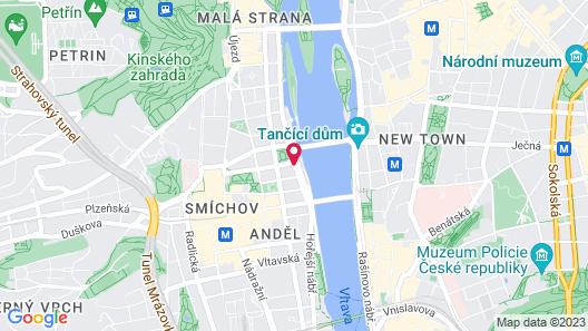 Mamaison Hotel Riverside Prague Map