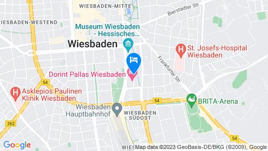 Dorint Pallas Wiesbaden Map