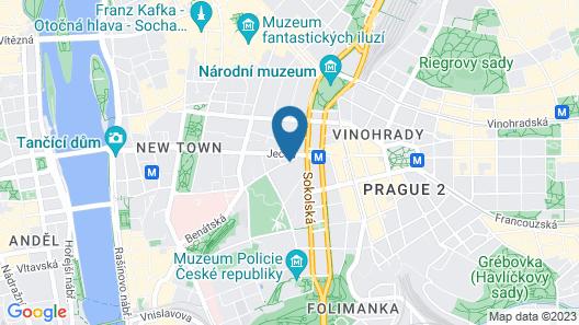 Novotel Praha Wenceslas Square Map
