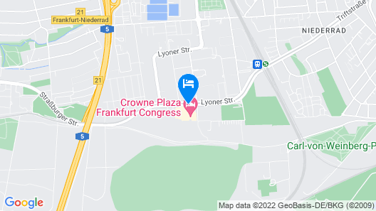 Crowne Plaza Frankfurt Congress Hotel Map