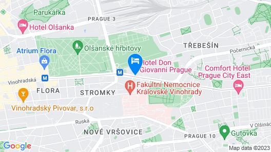 Hotel Don Giovanni Prague Map
