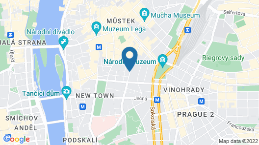 Majestic Plaza Hotel Prague Map