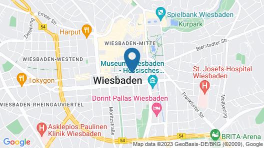 Mercure Hotel Wiesbaden City Map