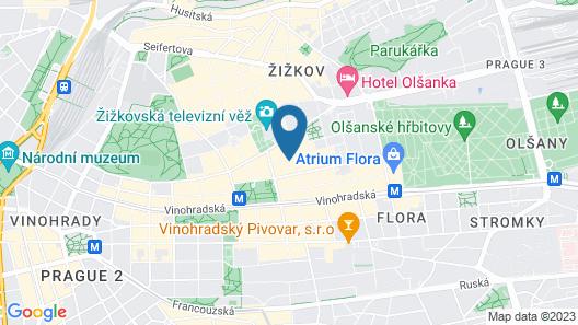 Prague City Stay Jagellonská Map