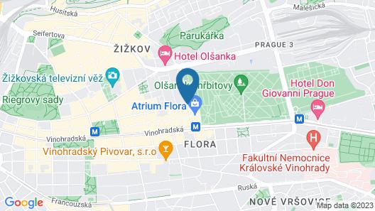 Courtyard by Marriott Prague City Map