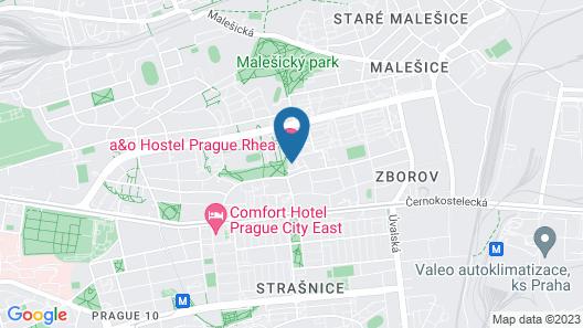 a&o Prague Rhea Map