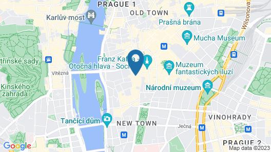 Hotel Élite Prague Map