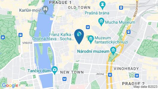 Michelangelo Grand Hotel Prague Map