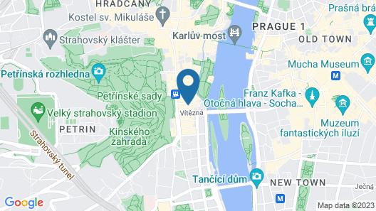 Prague - Kampa apartments Map