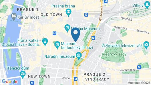 Grandium Hotel Prague Map