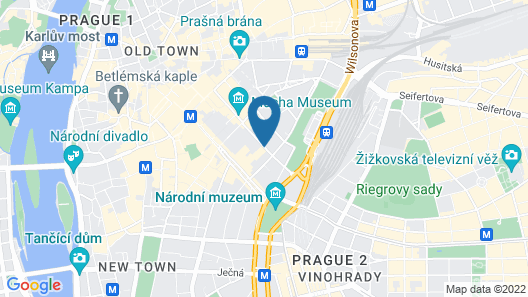 Grandium Hotel Prague Map