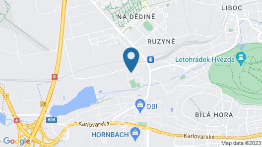 SKY Hotel Prague Map