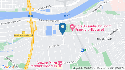 NH Frankfurt Niederrad Map