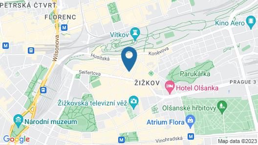 Pension Prague City Map