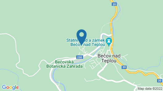 1 Bedroom Accommodation in Becov nad Teplou Map