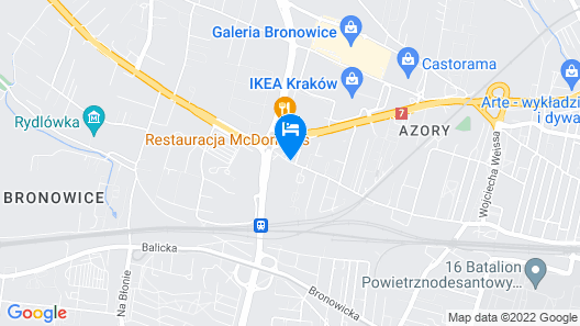 Q Hotel Kraków Map