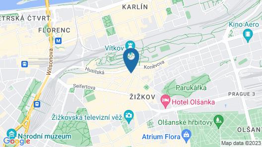 Three Crowns Hotel Prague Map