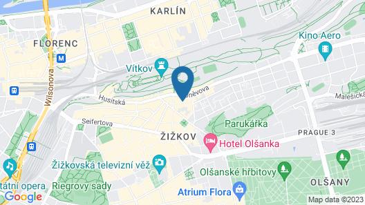 Prague City Stay Roháčova Map