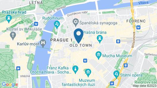 Grand Hotel Praha Map