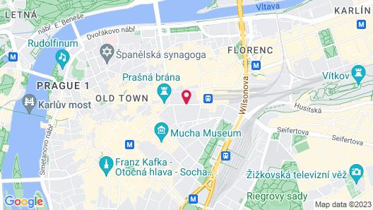 K+K Hotel Central Prague Map