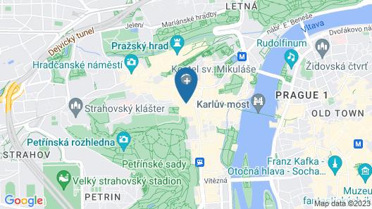 Aria Hotel Prague Map