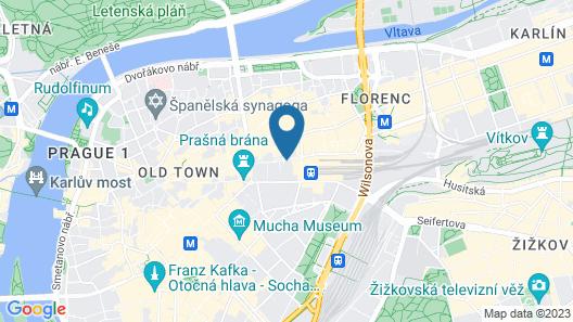 Prague Marriott Hotel Map