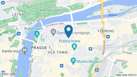 Hotel Josef Map