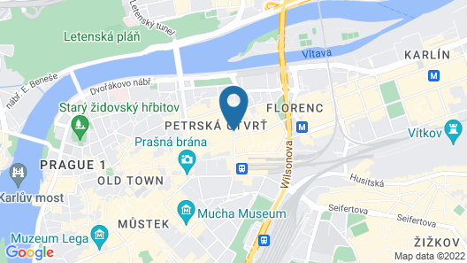 Cosmopolitan Hotel Prague Map