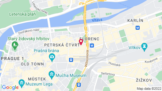 Grandior Hotel Prague Map